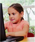 Child at computer